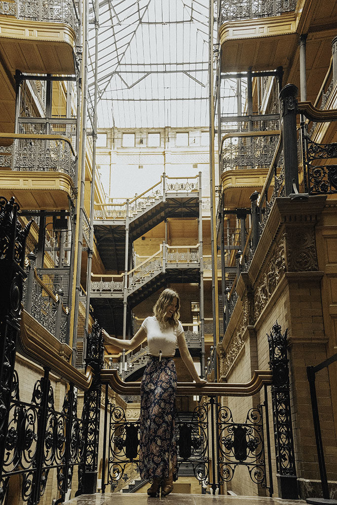 Bradbury Building Staircase Downtown LA - Best LA Instagram Locations