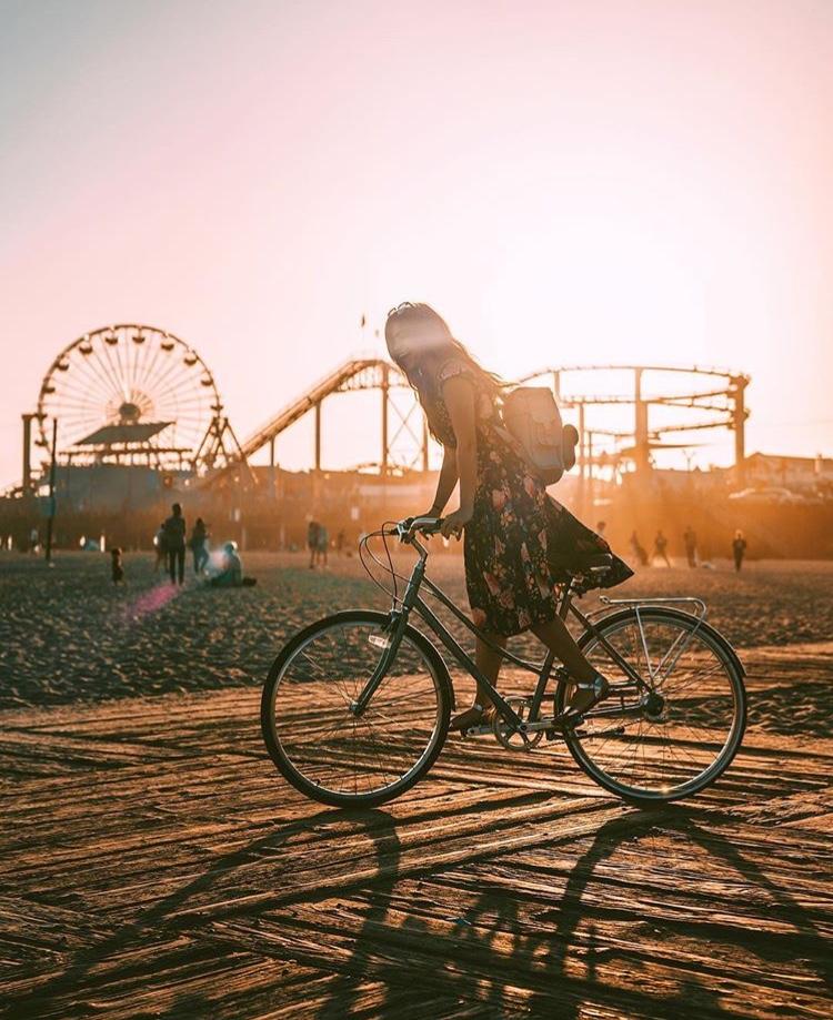 Sunset Bikes Santa Monica Pier - Best LA Instagram Locations