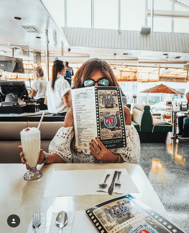 Mel's Drive-In DIner Menu - Best LA Instagram Locations