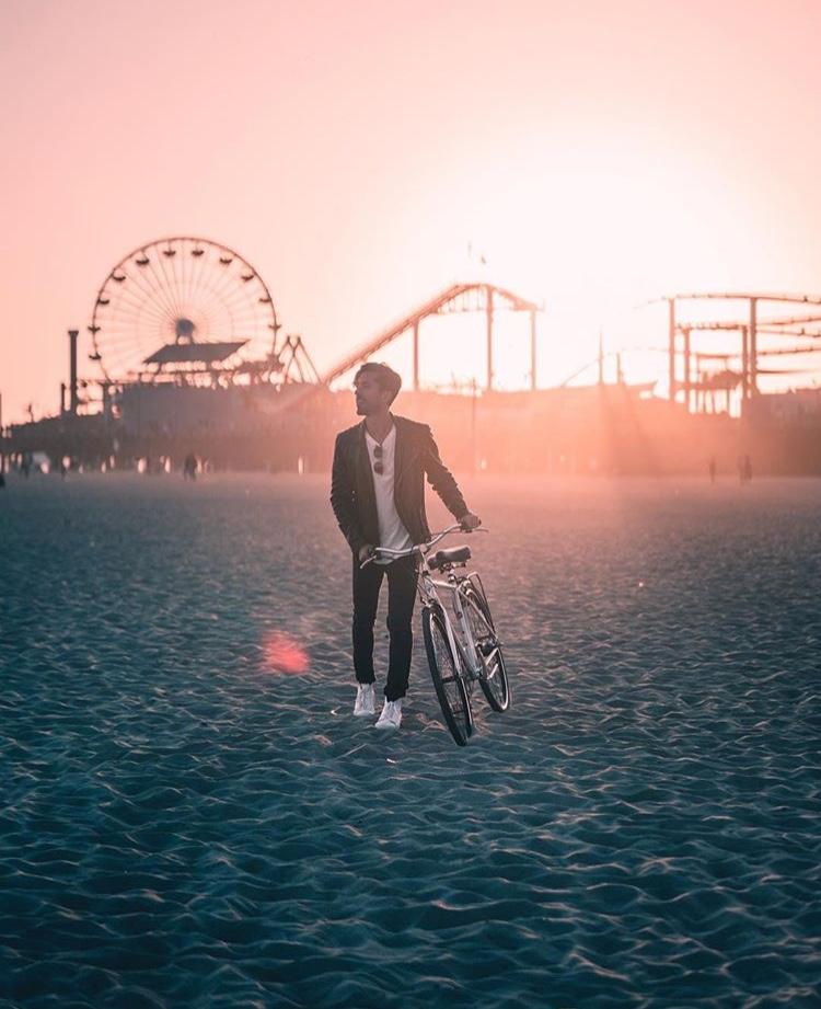 Sunset Bikes on Santa Monica Beach - Best LA Instagram Locations