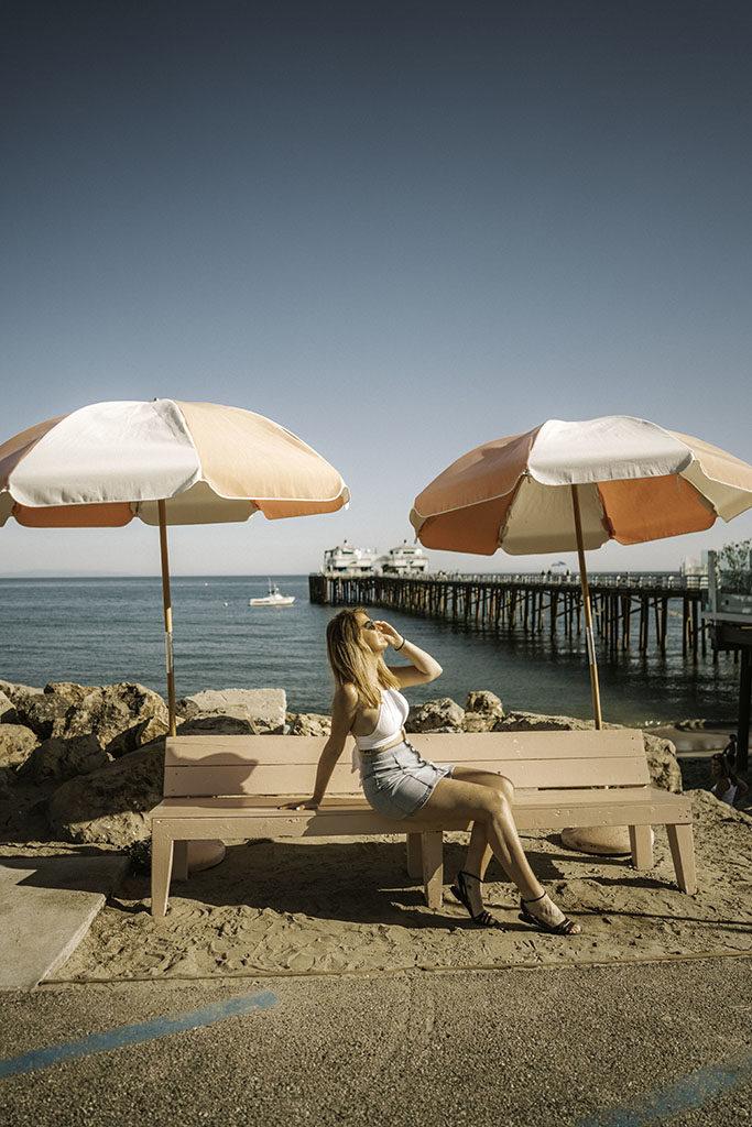 Malibu Pier Umbrella - LA Instagram Locations