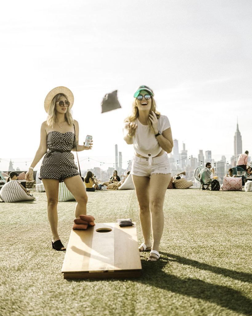 Cornhole Turf Club Westlight - Brooklyn's Best Rooftop Bars Instagram