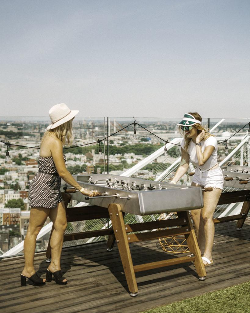 Foosball Turf Club Westlight - Brooklyn's Best Rooftop Bars