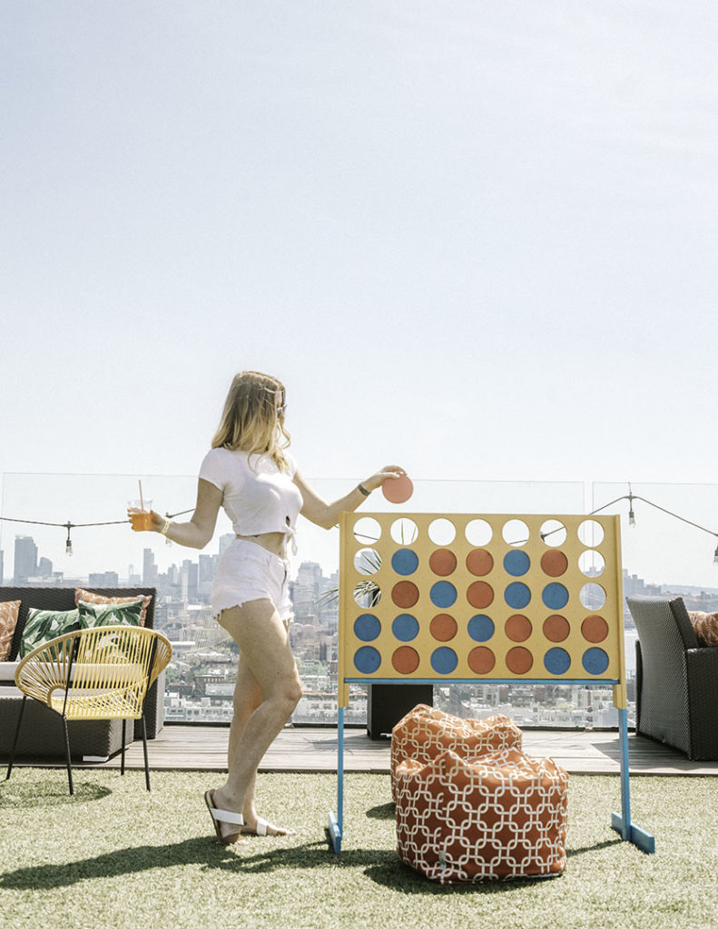 Giant Connect 4 Turf Club at Westlight - Brooklyn's Best Rooftop Bars Instagram
