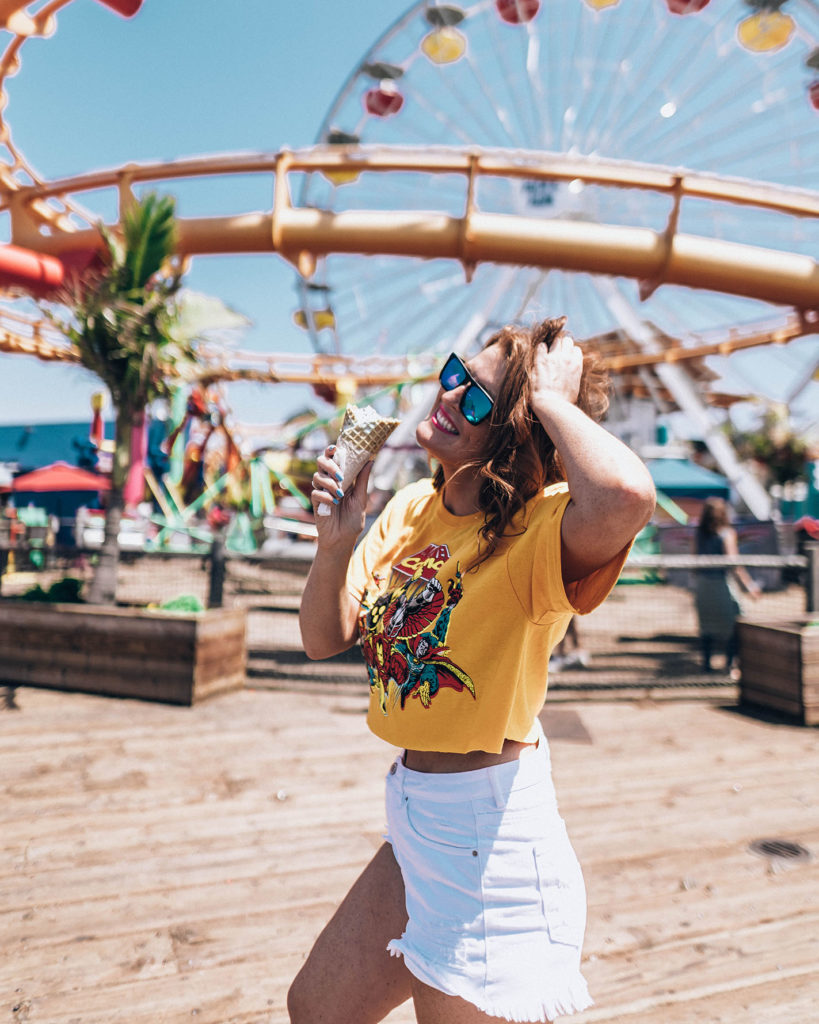 Santa Monica Pier Rollercoaster