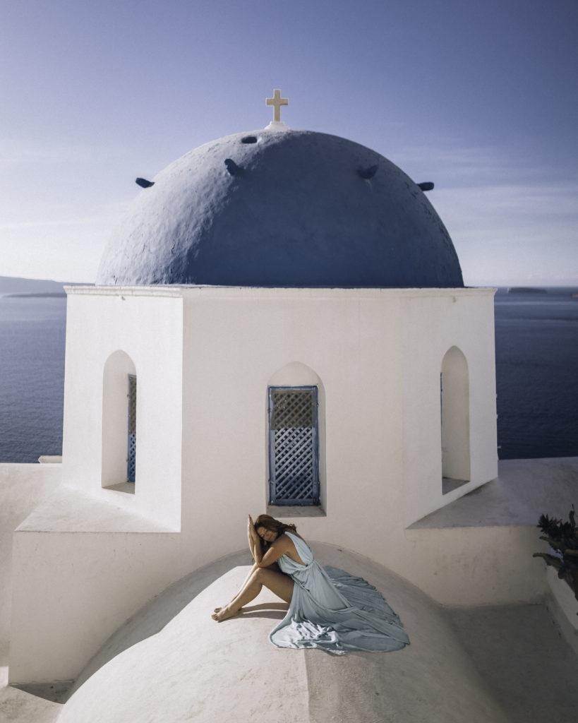 Santorini Oīa Blue Dome