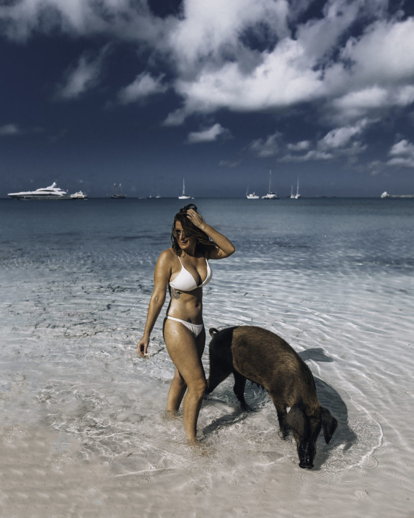 Exuma Swimming with Pigs